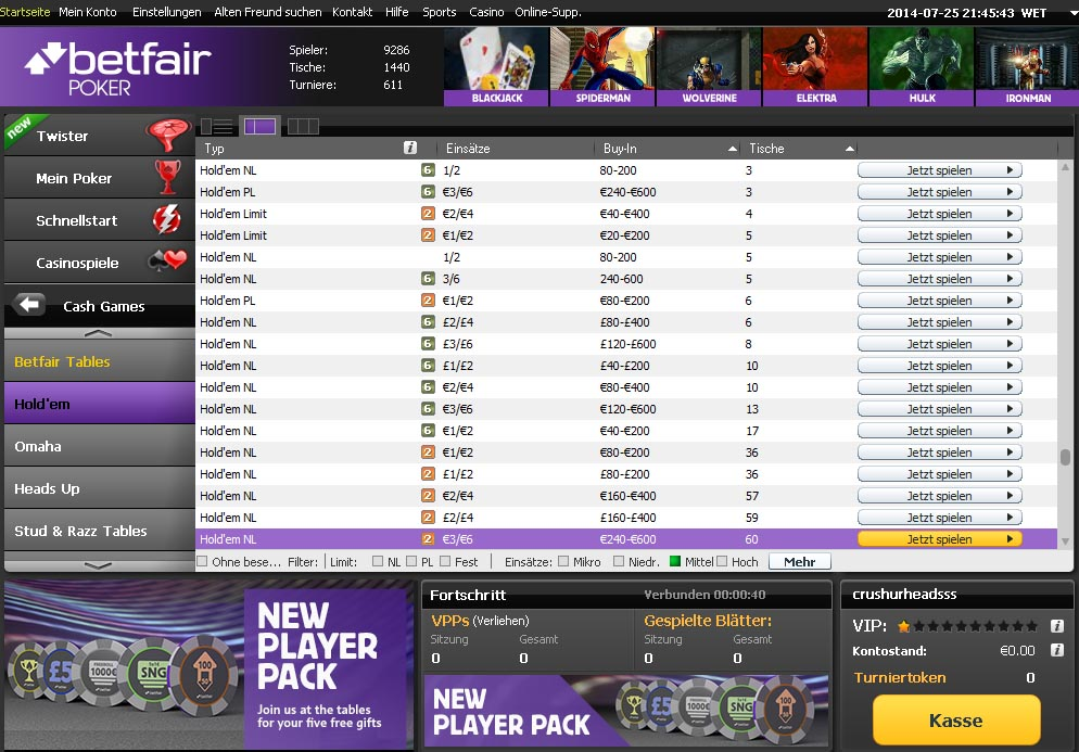 mac betfair poker