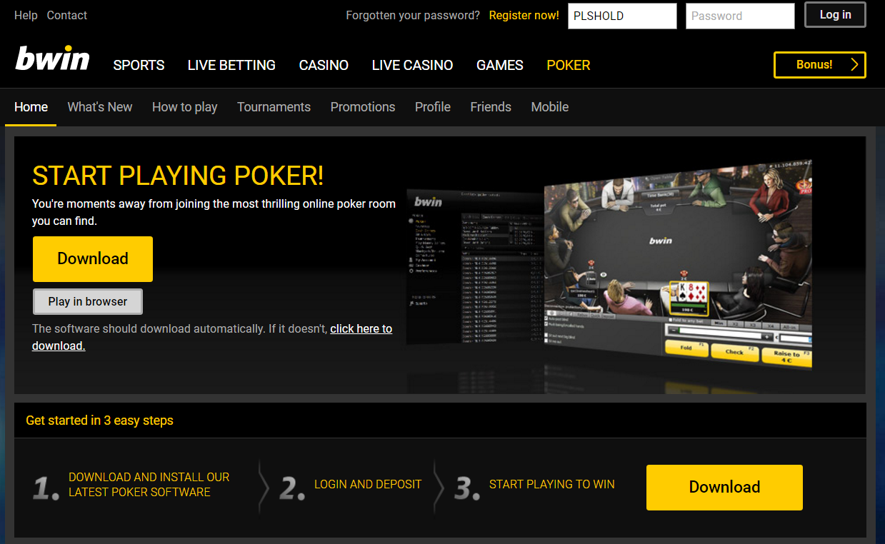 Bwin Poker Review -The best Bwin Rakeback Deal and Poker Bonus