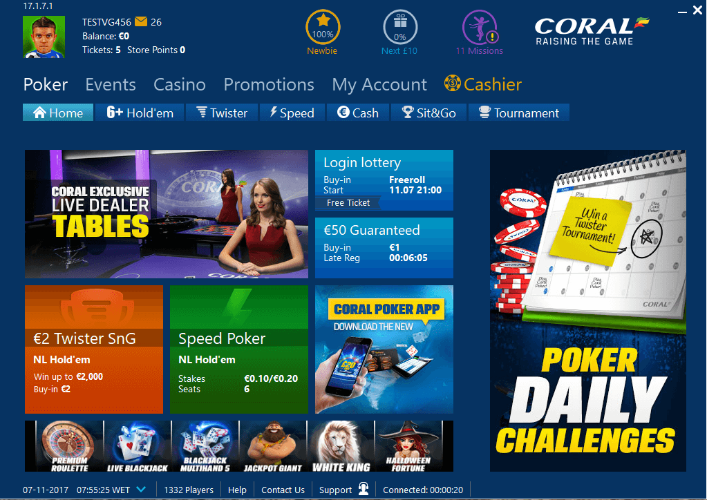Coral Poker Client
