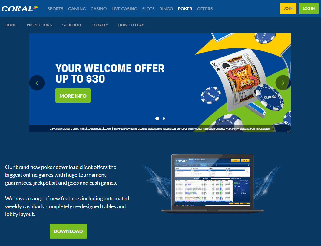 coral poker sign-up instructions