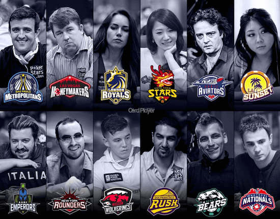 Global Poker League Teams and Managers