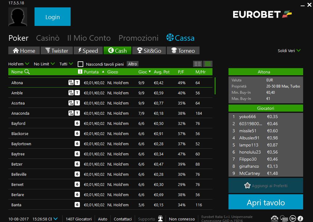 Eurobet Lobby
