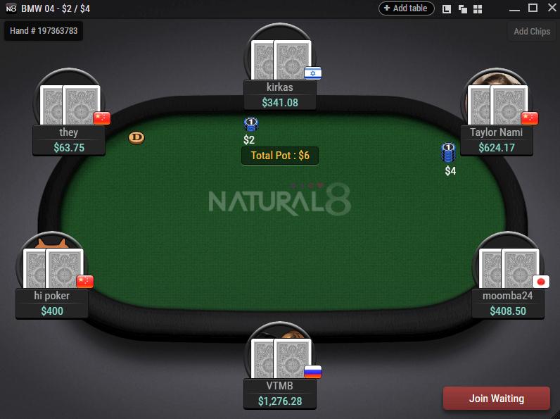 Natural8 Table
