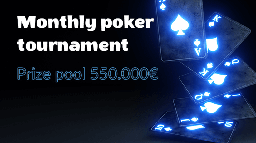 monthly poker tournament vbet