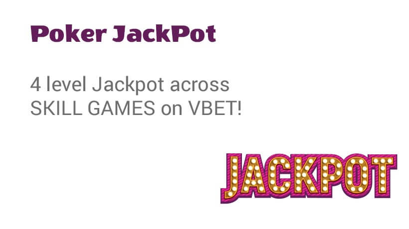 vbet Poker Jackpot