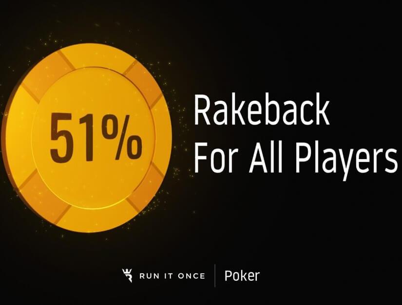 51% Rakeback Run It Once