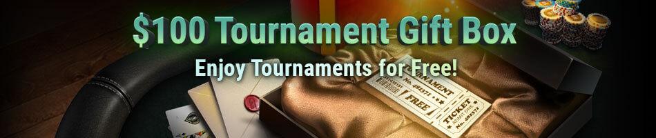 pokerok $100 tournament gift box