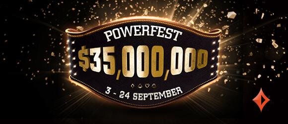 35 Million GTD Partypoker Powerfest September 2017