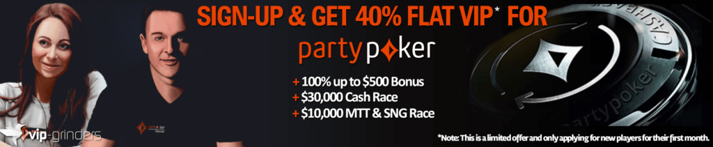 join partypoker VIP Upgrade main banner