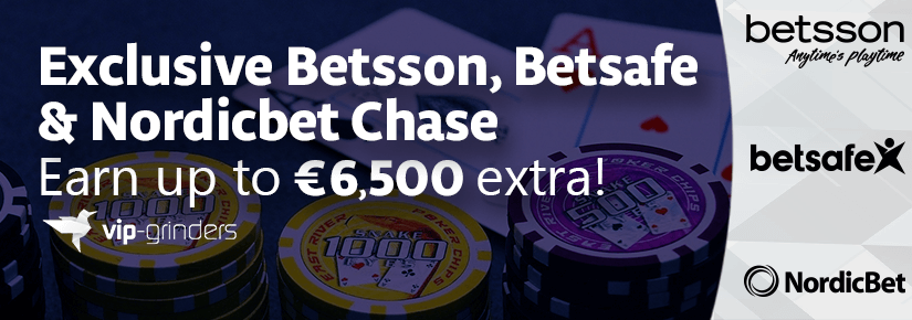 Exclusive Betsson, Betsafe Nordicbet Chase 825