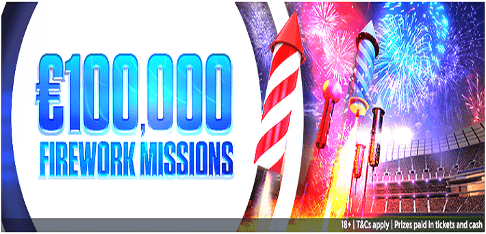 €100,000 Firework Missions on iPoker
