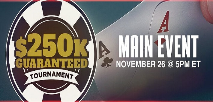 $250,000 GTD Thanksgiving Tournament on Ignition, Bodog and Bovada