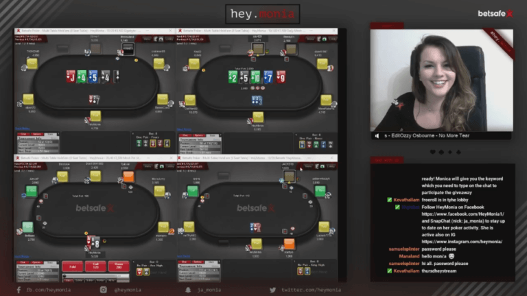 HeyMonia Betsafe Poker Twitch Stream