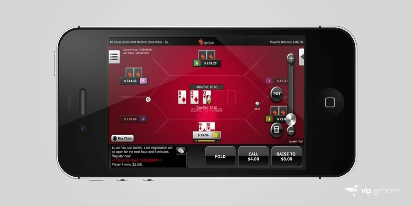 Ignition Casino Mobile Poker App Table