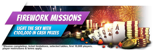 €100,000 Firework Missions iPoker