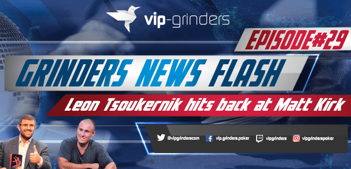Grinders News Flash Episode 29 Leon Tsoukernik vs Matt Kirk
