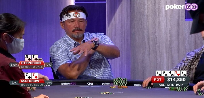 Poker Hand of the Week - Frank Stepuchin rivers the nut flush and folds it!