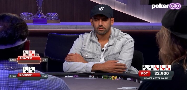 Poker Hand of the Week – Ronnie Bardah rivers a Wheel against flopped Trips Top Kicker from Ilyas Abayev