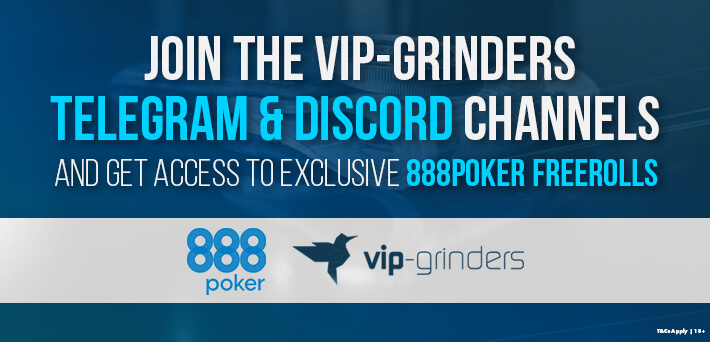 Join our Telegram and Discord to get the password for the new and exclusive 888poker Freerolls