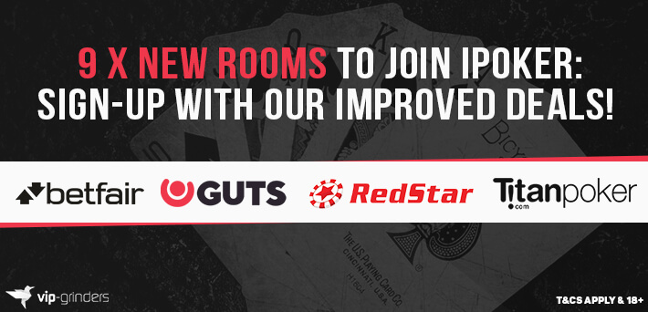 9 new poker sites to join iPoker: Sign-up with our improved rakeback deals!