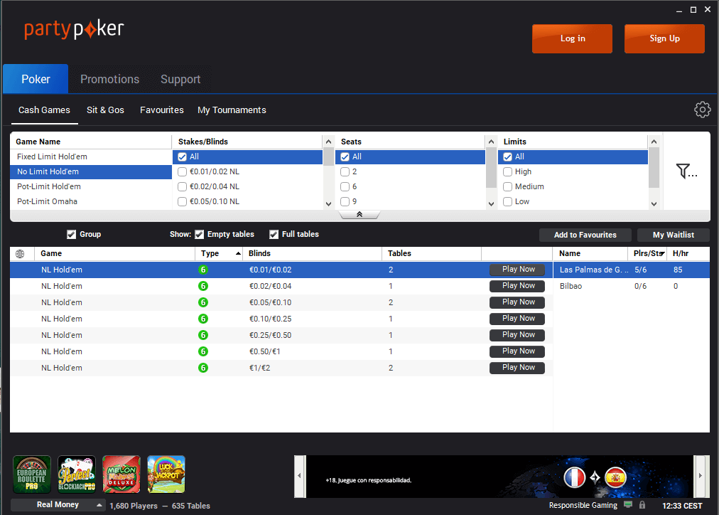 Partypoker.es-review-lobby