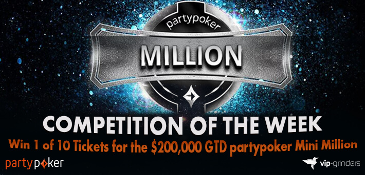 Like and Share this post on our Social Media and win 1 of 10 x Tickets for the $200,000 GTD partypoker Mini Million