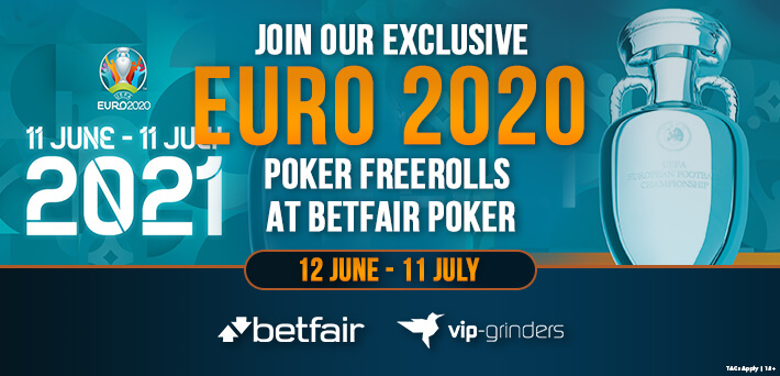 Join our Exclusive EURO 2020 Poker Freerolls at Betfair Poker