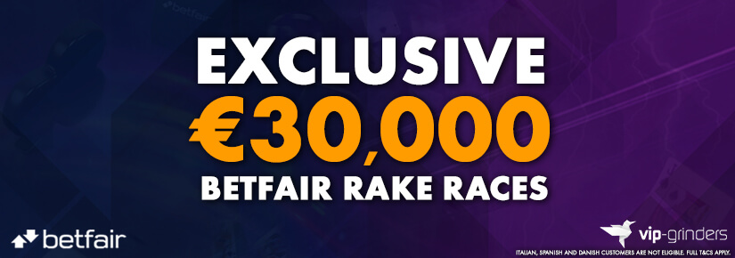 Exclusive €30,000 Betfair Races January