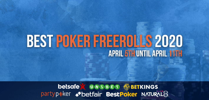 Best Poker Freerolls April 5th – April 11th 2020