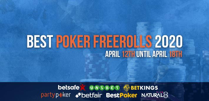 Best Poker Freerolls April 12th – April 18th 2020