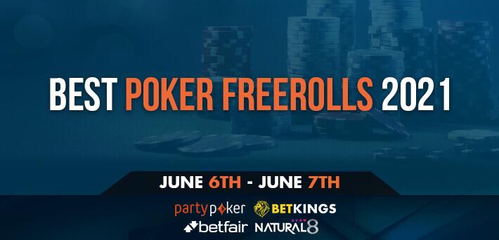 Best Poker Freerolls June 6th – June 13th 2021