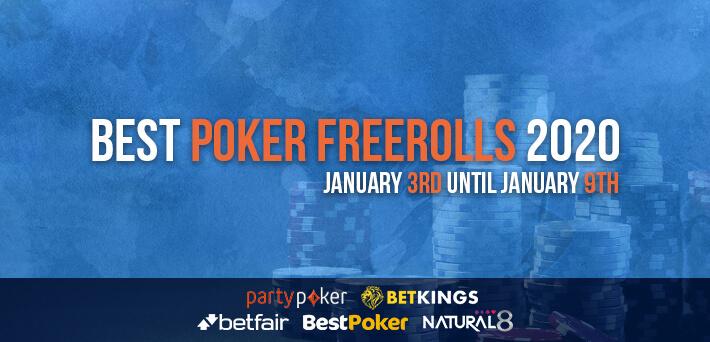 Best Poker Freerolls January 3rd – January 9th 2020