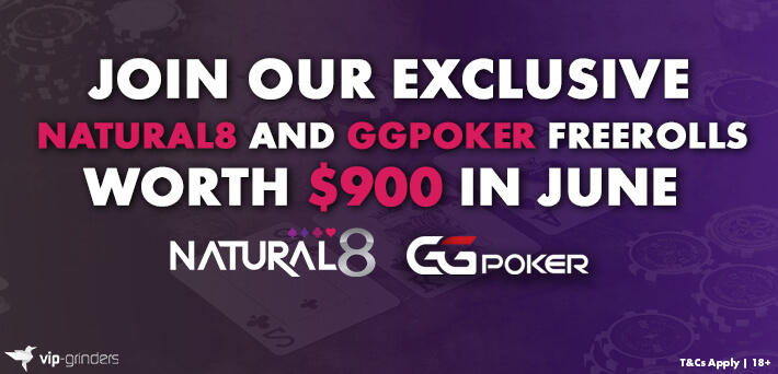Join our Exclusive Natural8 and GGPoker Freerolls worth $900 in June