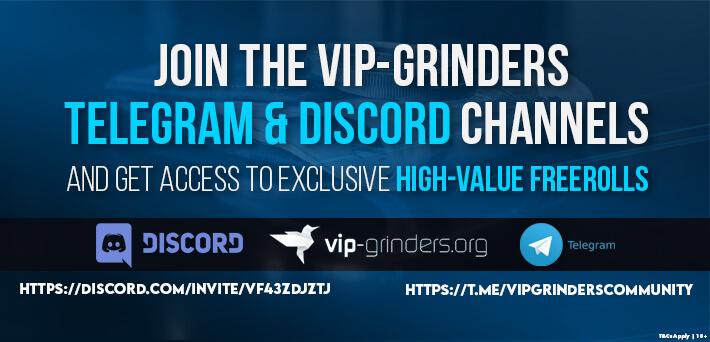 exclusive vip-grinders poker freerolls july