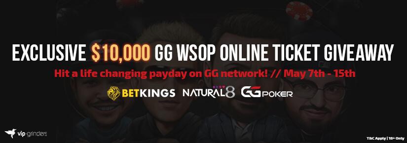 $10,0000 GG WSOP Online Ticket Giveaway