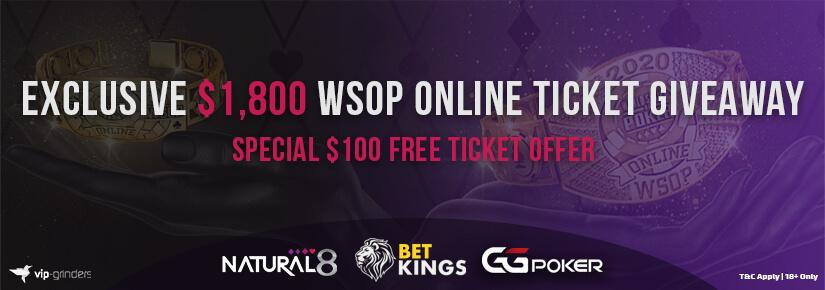 $1,800 WSOP Online Ticket Giveaway