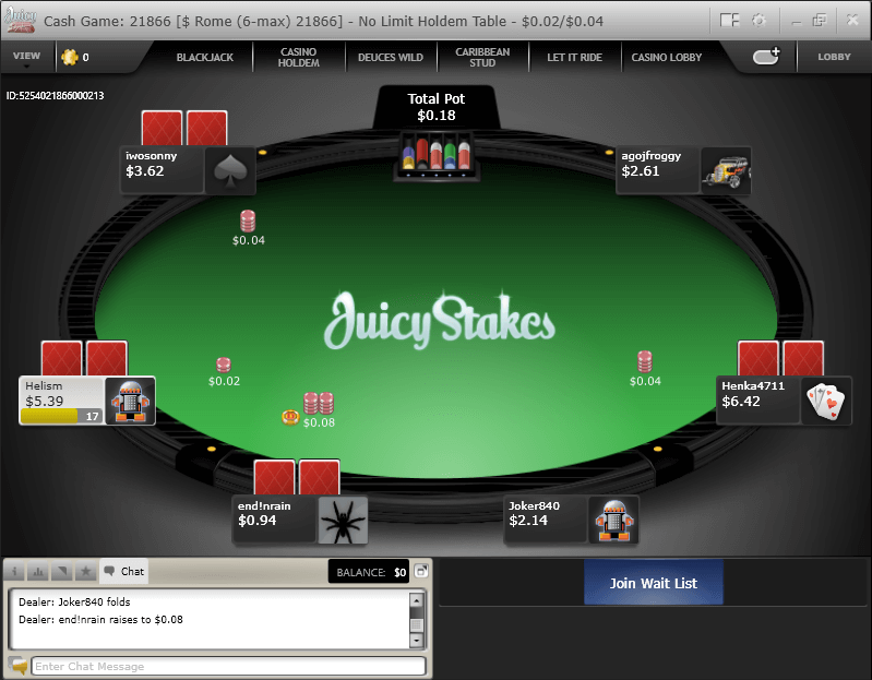 Juicy Stakes Poker Review