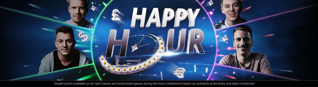 Earn double cashback this week in the Happy Hours at partypoker!