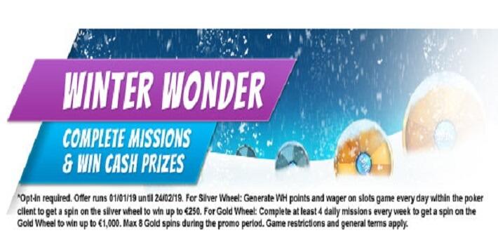 Winter Wonder Promotion Betfair Poker