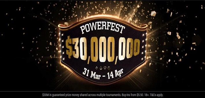 $30,000,000 GTD partypoker Powerfest kicks off on Sunday!