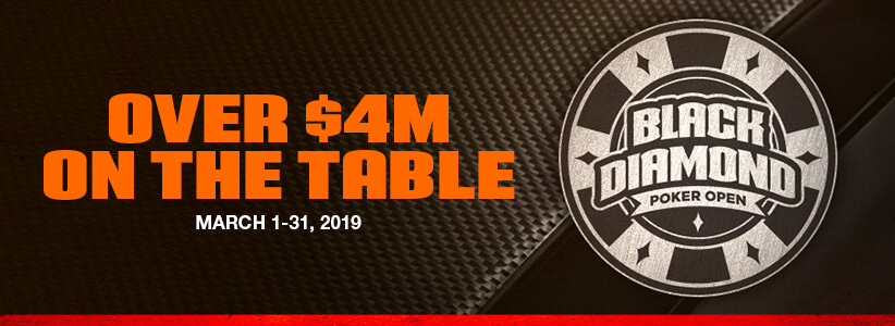 More than $4 Million Guaranteed at the Black Diamond Poker Open 2019