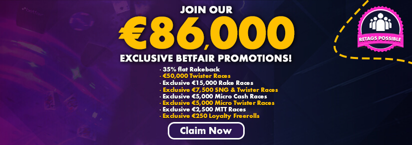 Betfair Promotions €86,000 Prize Pool August