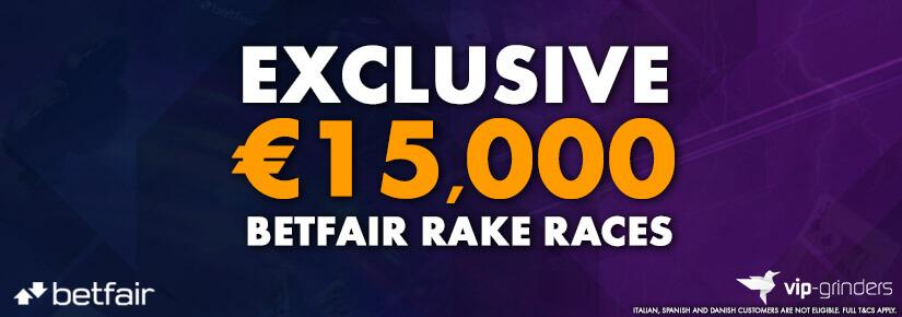Exclusive €15,000 Betfair Races