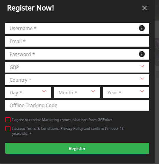 GGPoker-Registration