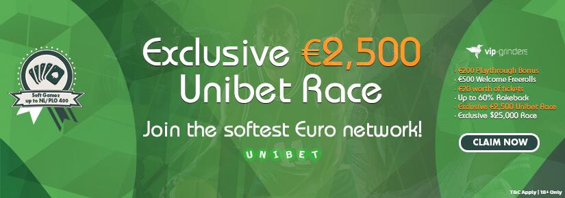 Exclusive €2,500 Unibet Race