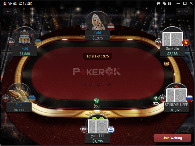 Tabela PokerOK