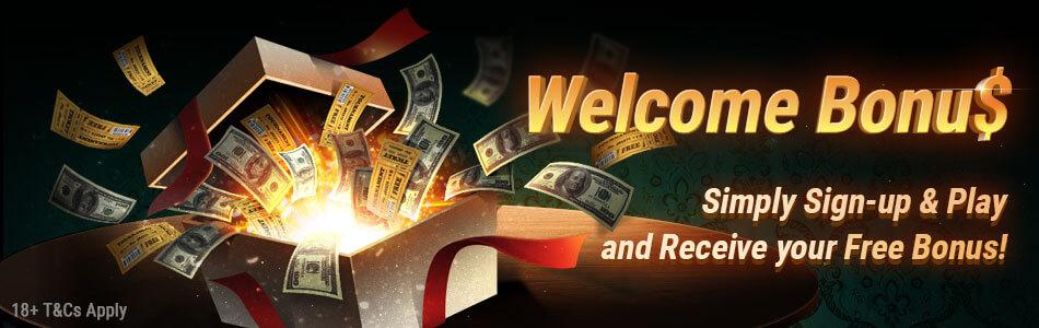 Bônus de boas-vindas do pokerOK