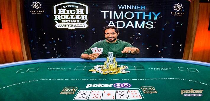 Timothy Adams wins inaugural Super High Roller Bowl Australia for a massive A$2,160,000!