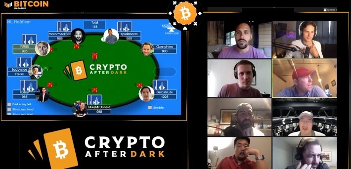 Mike McDonald plays in Bitcoin Poker Show Crypto After Dark