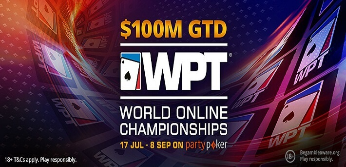 $100,000,000 GTD at the WPT World Online Championships at partypoker!